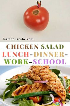 Easy prep, healthy chicken salad for lunch, dinner, work, and school. Great for on the go too! Easy prep, healthy chicken salad for lunch, dinner, work, and school. Great for on the go too! Healthy chicken salad for dinner. It helps with weight loss and clean eating! Simple and quick too. Chicken can offer so many easy recipes. Making lunches ahead for work can be made in advance and using leftover cooked chicken.  Easy chicken recipes include stuffed chicken breast, keto chicken breast… Cooked Chicken, Stuffed Chicken, Baked Chicken Recipes, Keto Chicken, How To Cook Chicken, Chicken Salad, Healthy Dinner Recipes, Easy Recipes, Healthy Lunches