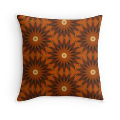 Retro - Throw Pillow Cover - Orange  - pop over to the designer's own shop at annumar.com