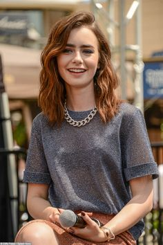 Lily Collins | The Philosophers' Mail should I cut my hair like this y'all? @Megan Robinson @Megan Bell @Neally Michelle @Shayla