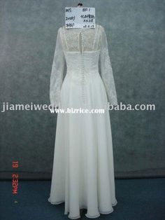 e72f9a81878b ivory long-sleeved chemical chiffon wedding dress