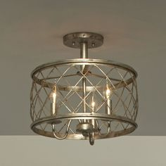 European in design yet versatile in appeal, Dury is a beautiful pendant light fixture.  The criss-crossed bands add visual interest and the century silver leaf finish is sure to complement all types of decor styles.