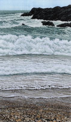 Frothy Waves by Alison Holt quilt artist