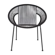 Cocktail Chair In Black. This stylish cocktail chair is perfect for lounging in on a sunny day. Absolutely brilliant for the garden or the patio but just as gre Metal Garden Furniture, Small Furniture, Outdoor Furniture, Sun Chair, Black Dining Chairs, Cocktail Chair, Woven Chair, Garden Chairs, Occasional Chairs