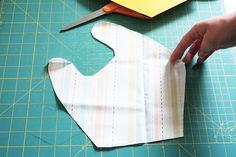 Baby Drool Bibs With FREE Pattern Burp Cloth Patterns, Sewing Patterns Free, Free Pattern, Crib Sheet Tutorial, Drool Bibs, Fabric Scissors, Pom Pom Trim, Baby Sewing, Baby Bibs