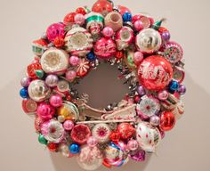 Vintage Christmas ornament ball wreath with by pumpkinpoptart
