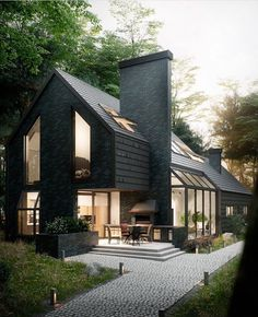 Superb House In The Woods Designed And Visualized By Antony Polyvianyi