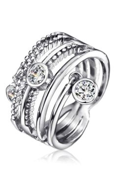 Callura - Triple Circle Cubic Zirconia Ring