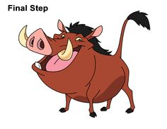 Learn how to draw Pumbaa from Disney's The Lion King with this step-by-step tutorial and video. New drawing tutorials are uploaded frequently, so stay tooned! Lion King Drawings, King Painting, Disney Classroom, Small Canvas Paintings, Le Roi Lion, Disney Drawings, Character Drawing, Learn To Draw, Animal Drawings