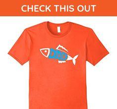 Mens Fishing Dad - Cute Fish Father's Day Gift Medium Orange - Holiday and seasonal shirts (*Amazon Partner-Link)