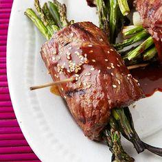 Grilled terriaki beef & asparagus