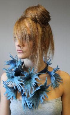 Necklace | Regina Doseth. Merino wool felt.