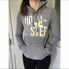 Gray Hollister Sweatshirt Gray Hollister sweatshirt , size medium but fits snug more like a small/medium , very good used condition Hollister Tops Sweatshirts & Hoodies
