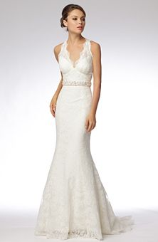 Clean and simple look.   Brides Magazine: Wtoo Brides : Style No. 16432 Lycette : Wedding Dresses Gallery