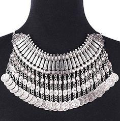 Flesser® Vintage Necklace Choker Coin Tassels Hippie Boho Festival Tribal Belly dancing (Silver) Flesser http://www.amazon.com/dp/B00SQSQOTO/ref=cm_sw_r_pi_dp_1CqFvb0DK7EZW