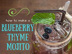 How To Make A Blueberry Thyme Mojito    1 ½ ounces of Havana Club Dark  4 oz. soda water  Squirt of Lemon juice  6 blueberries  1 tsp demerara sugar  ¼ tsp dried Thyme leaves and 1 stalk broken   For more recipes go to www.noshtalgic.com