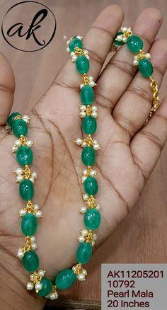 Beaded Jewelry Designs, Jewelry Design Earrings, Gold Earrings Designs, Coral Jewelry, Necklace Designs, Fancy Jewellery, Bead Jewellery, Shiva, Emerald