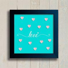 Quadro Love Hearts - Encadreé Posters