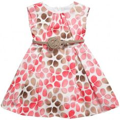 Pink and Brown Dress And Belt