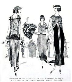 "Egyptian Revival fashions (""L'Art et la Mode"", 1924)"