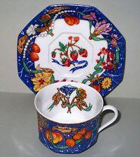 HERMES Porcelain TASSE et SOUCOUPE 20cl CUP & SAUCER  Marqueterie de Pierres