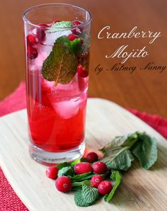 This cranberry mojito is the perfect way to celebrate Christmas. Full of fresh cranberry simple syrup, fresh mint, lime and just a touch of rum.
