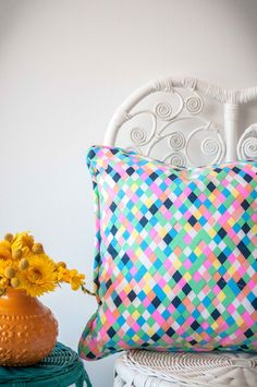 KALEIDOSCOPE OF COLOUR Color Splash, Vibrant, Cushions, Colours, Throw Pillows, Handmade, Beautiful, Design, Toss Pillows