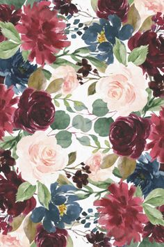 Drawing Flowers Burgundy Blue Watercolor Flowers Border Tissue Paper Flowers by JunkyDotCom - Beautiful hand drawn watercolor burgundy pink and navy blue flowers. Pretty Backgrounds, Flower Backgrounds, Flower Wallpaper, Wallpaper Backgrounds, Floral Wallpaper Iphone, Phone Backgrounds, Flower Background Design, Watercolor Flower Background, Vintage Clipart