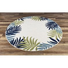 Shop for GAD Foliar Beautiful Contemporary Tropical Palm Leaves Indoor Outdoor Area Rug. Tropical Rugs, Sewing Room Decor, Indoor Outdoor Area Rugs, Online Home Decor Stores, Colorful Rugs, Contemporary, Palm, Neutral Colors, Colours