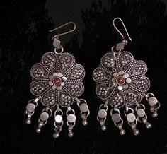 Old Yemeni Silver Earrings.