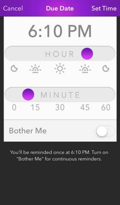 <> Finish App's Time Picker :: nice design with slider, have to try more, but the hour and minute might be obscured by the slider handle