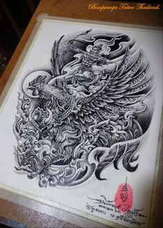 Dragon Tattoo Full Back, Thai Design, Thailand Art, Thai Art, Art Drawings Sketches, Line Art, Tatting, Craft, Rose