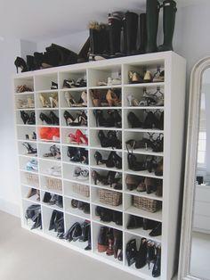como guardar zapatos de mujer