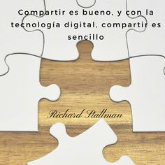"""Frases célebres de Richard Stallman: """"Compartir es bueno, y con la tecnología digital, compartir es sencillo"""". #Frases #FrasesCélebres #Tecnología #AxpeConsulting"""