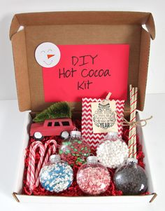 Do It Yourself Christmas Gift Ideas For Coworkers Gif Gift Idea Diy Hot Cocoa Kit Smashed Peas Amp Carrots. Do It Yourself Christmas Gift Ideas For Coworkers Gif. Easy Diy Christmas Gifts, Christmas Baskets, Easy Diy Gifts, Simple Christmas, Xmas Gifts, Homemade Gifts, Christmas Presents, Christmas Crafts, Christmas Ideas