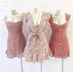 Untitled Source by Cute Dresses, Casual Dresses, Short Dresses, Casual Outfits, Summer Dresses, Dresses Dresses, Cute Fashion, Look Fashion, Korean Fashion
