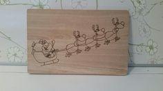 """Brettchen """"Weihnachtsmann mit Schlitten"""" von Muffelchens  Bretterbude auf DaWanda.com"""