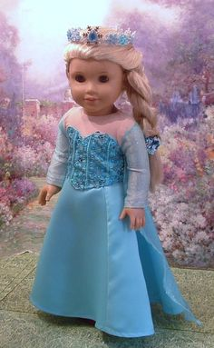 Elsa for American Girl by MyGirlClothingCo on Etsy, $48.00