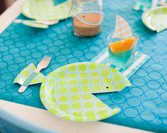 De jolies assiettes-poisson pour l'anniversaire de bébé