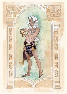 Capricorn  5x7 Print by Dancingheron on Etsy, $7.00