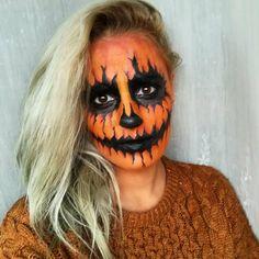 halloween makeup pumpkin blogger magyar hungarian