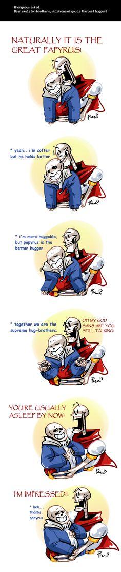 Undertale ask blog: best hugger ||| Sans and Papyrus ||| Undertale Fan Art by bPAVLICA