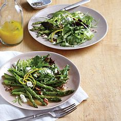 Skillet Asparagus Salad with Goat Cheese | MyRecipes.com