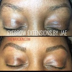 Say goodbye to sparse eyebrows. We offer #browextensions #browsonfleek #browtint at our #bloomfield location. #thewaxden