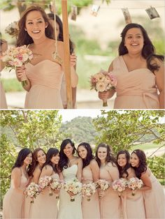 Clos LaChance - Carlie Statsky Photography - Nicole Ha florals - blush bridesmaid dresses