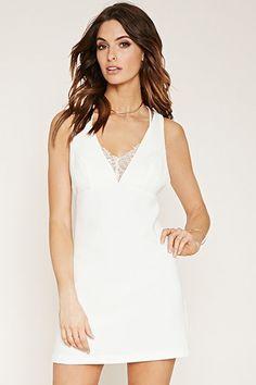 Contemporary Lace-Trim Dress