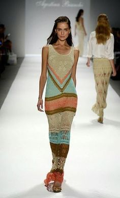 Handmade Knitted Crochet Long Clothes Ideas for Ladies: - Fashion & Trend
