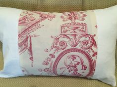 """19th Century French Toile Pillowcase, Antique Toile De Jouy French Country Shabby Chic Pillow Cover 1800s French Linen Home Decor. BRAND NEW Pillow made from Gorgeous 19th Century French Fabric, Quality Cream Linen, Vintage Pearly White Shell Buttons. Like antique quilts, every vintage pillow has a story to tell. SIZE: 22"""" X 12"""" or 56 X 30 cm CONDITION: Antique French Fabric is in Excellent Vintage Condition NUMBER AVAILABLE: One pillow. MADE TO ORDER. Pillow not finished yet, as fabric…"""