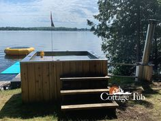 This is the Fastest Heating Wood burning hot tub on the market. All stainless steel Cleaning Hot Tub, Wood Burning Heaters, Hot Tub Cover, Pool Heater, Cedar Siding, Lake Water, All Stainless Steel, Stove, Swimming Pools
