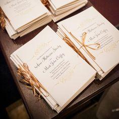 Elegant ceremony programs await the guests