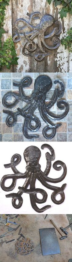 Wall Sculptures 166729: Octopus Of The Deep Recycled Metal Haitian Wall Art, Fair Trade 14 X 14 -> BUY IT NOW ONLY: $38.5 on eBay!